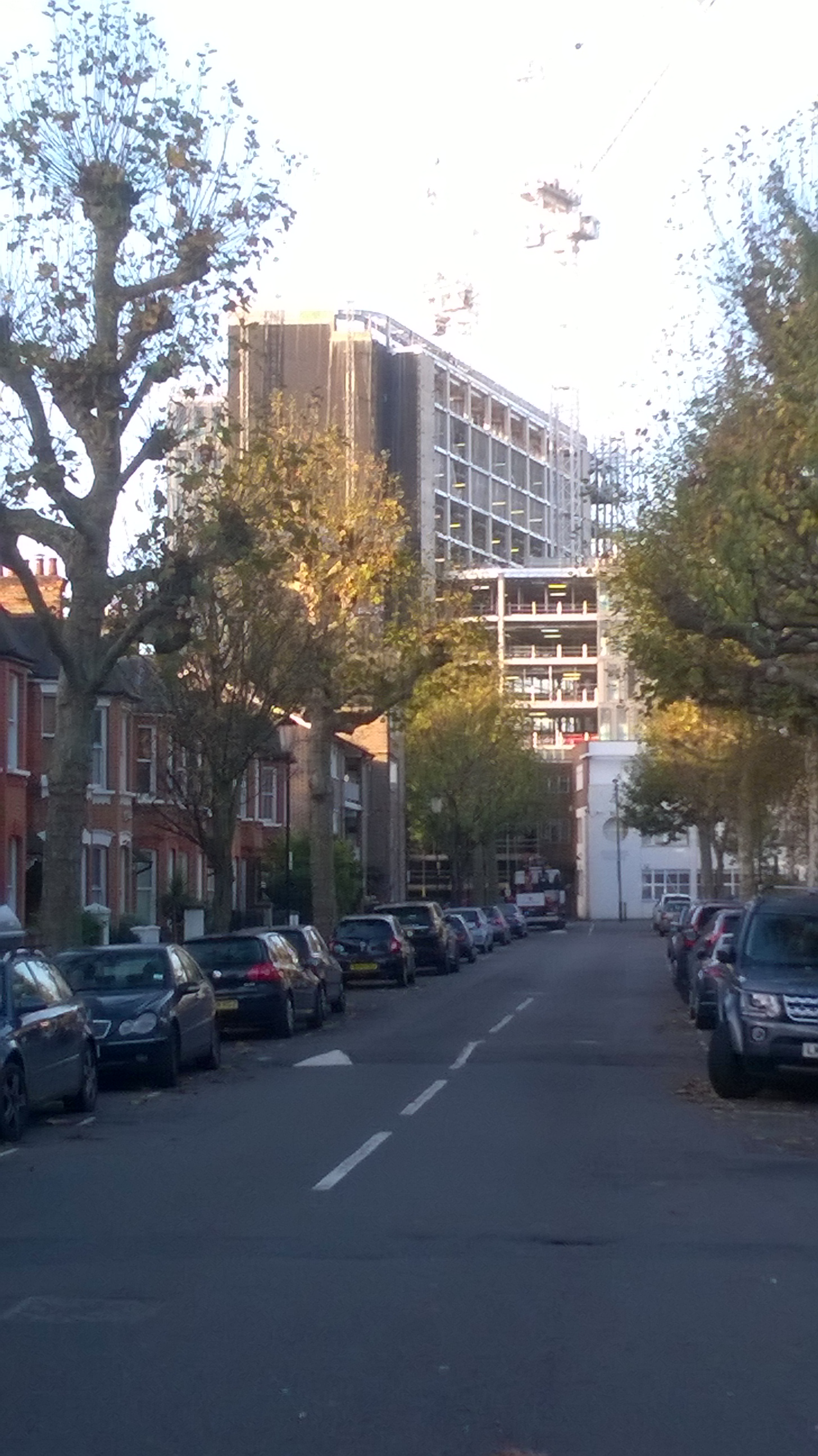 Imperial West - view from Oxford Gardens November 2015